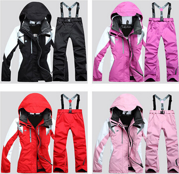 hot sell Winter Ski Suit Waterproof Women Pant And Jacket t Snowboard Suit Sport Snow Clothes Women -40 Degree(China (Mainland))