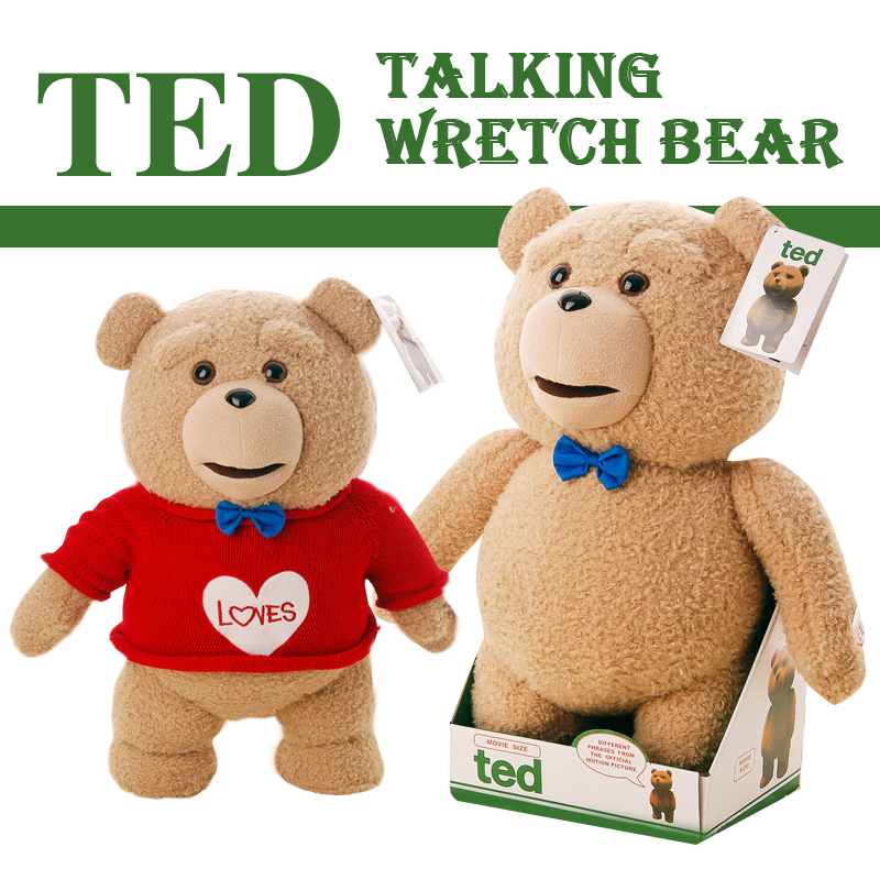 Free shipping 40cm Ted bear 16-Inch R-Rated Talking Plush Teddy Bear toy doll swearing and standard version(China (Mainland))