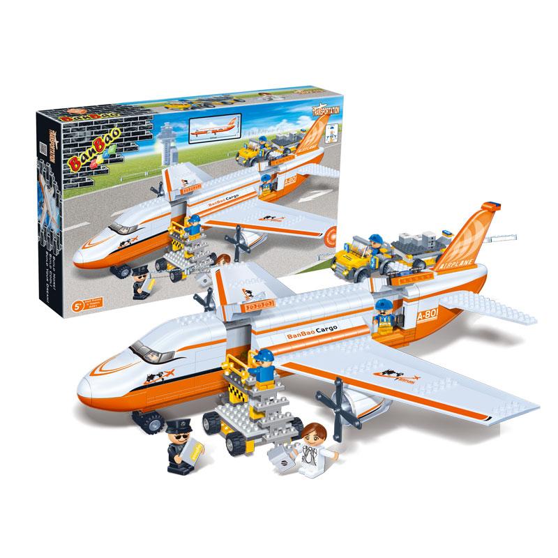 Banbao 8281 Cargo Aircraft Plane Transport 660 pcs Plastic Model Building Block Sets Educational DIY Bricks Toys Christmas gift(China (Mainland))