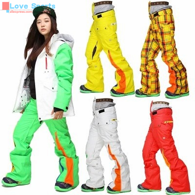 Newest High Quality Women Thick Warm Snowboard Pant Ski Pants for Women Skiing Pants for Lady Outside Sport in Cold Winter<br><br>Aliexpress