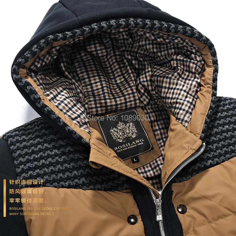 2014 New Thick Hooded Winter Coat Men Fashion Slim Men Jacket Winter Good Quality Warm Men