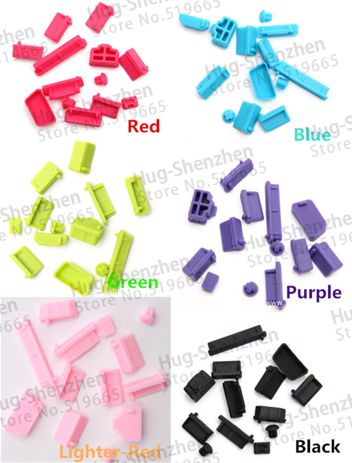 RJ45/Audio/HDMI/SD/1394/eSATA/VGA /USB dust plug /dust cover for laptop/computer /Router Color Selectable 13pcs/pack(China (Mainland))