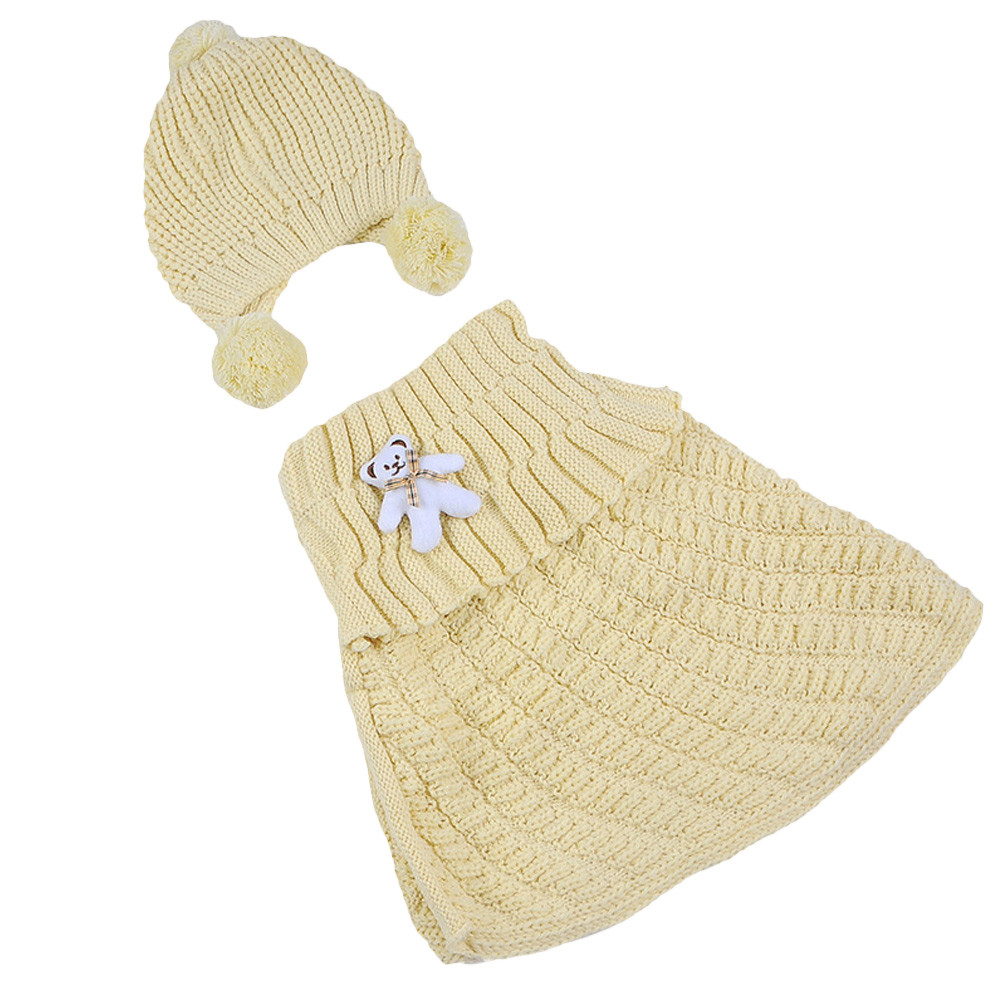 Retail Baby Toddler Knitted Scarf Hat Autumn Winter Hooded Shawl Solid Children Kids Cloak Cape Unisex Boys Gilrs Free Shipping
