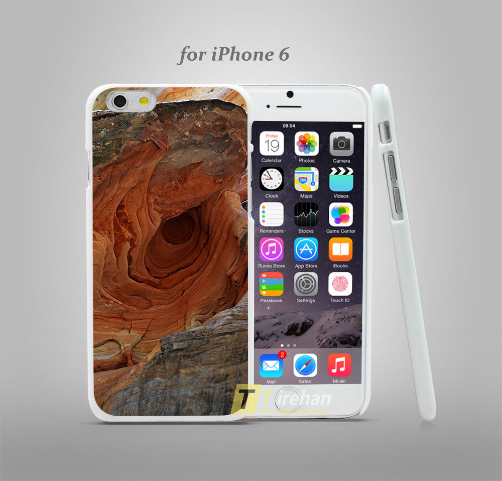mi08 hidden canyon rock formations Hard White Plastic Skin Coque Case Cover for iPhone 4 4s 4g 5 5s 5g 5c 6 6 Plus(China (Mainland))