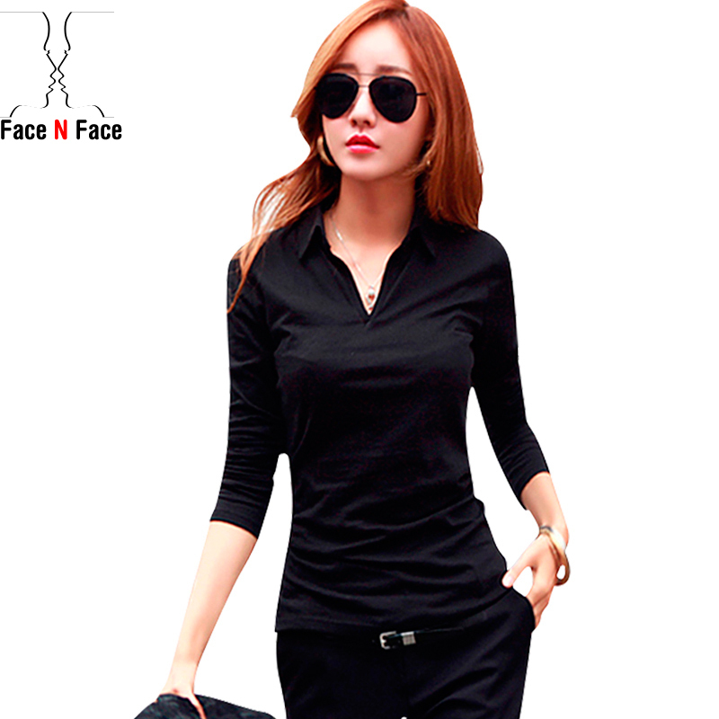 New 2015 Autumn Tops Tees Ladies Long Sleeve Tshirt Women T-shirt Cotton Female Tshirt Woman Clothes Camisetas Femininas Blaser(China (Mainland))