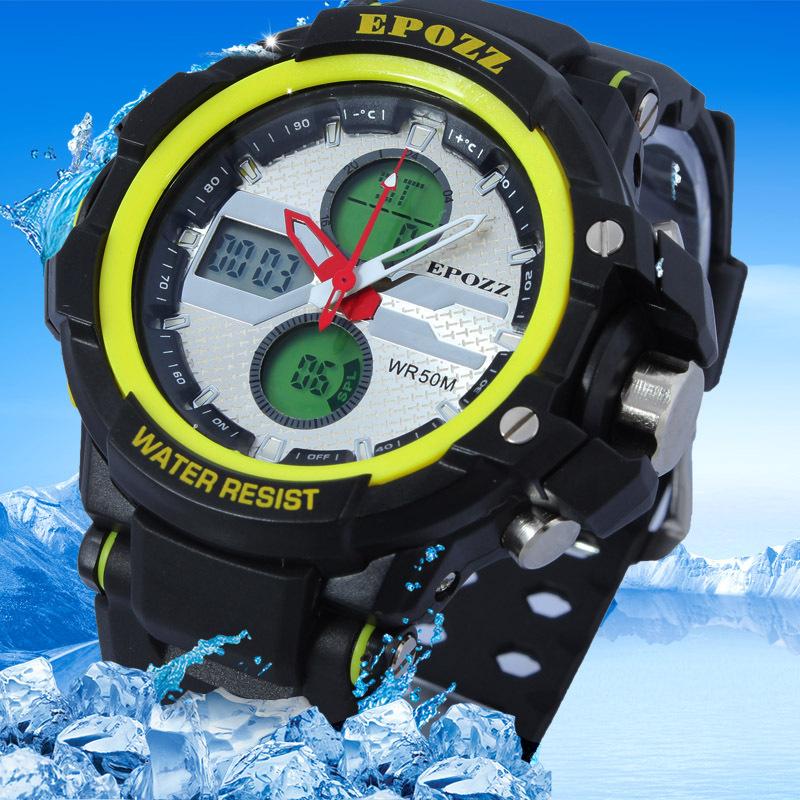 EPOZZ New Relogios Brand Mens Sports Military Stopwatch 50m Water Resitance Relojes Deportivo Quartz Rubber Strap Watch /EP1310<br><br>Aliexpress