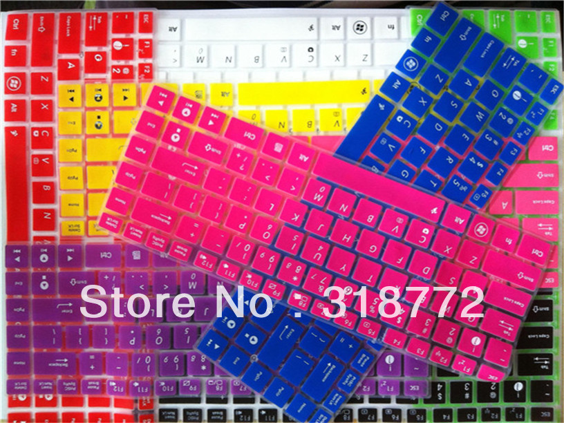 DHL 100pcs Silicone Keyboard Cover skin sticker For ASUS A45 N82 UL30 U30 U31 U33 U35 U36 U41 U43 U45 VX5 A40 A42 X42N K42J A43S<br>