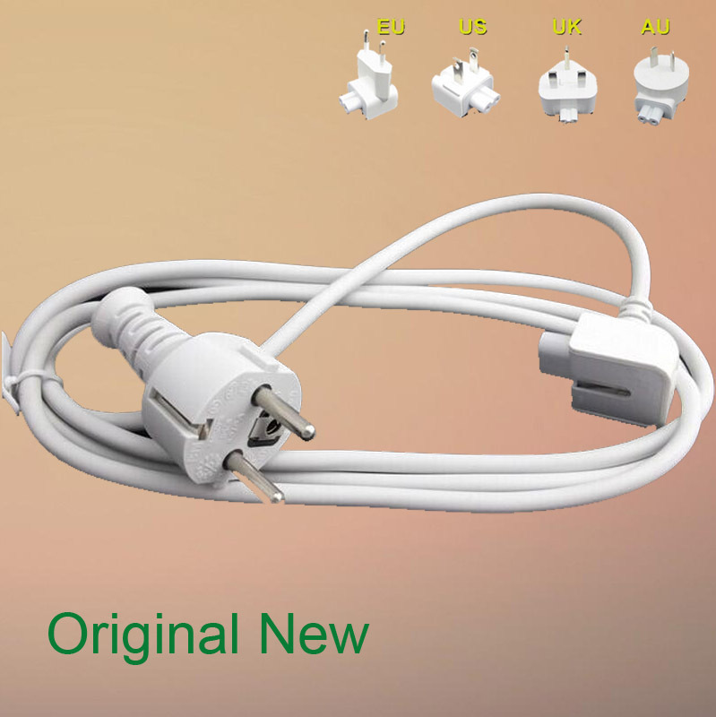FREE SHIPPING NEW Original OEM for APPLE 45W 60W 65W 85W Magsafe EURO Extension Power Cord,AU,US,UK(China (Mainland))