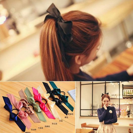 2015 New Korea Nice Ribbon Big Hair Bow Headbands for Women Hair Accessories A8R13C(China (Mainland))