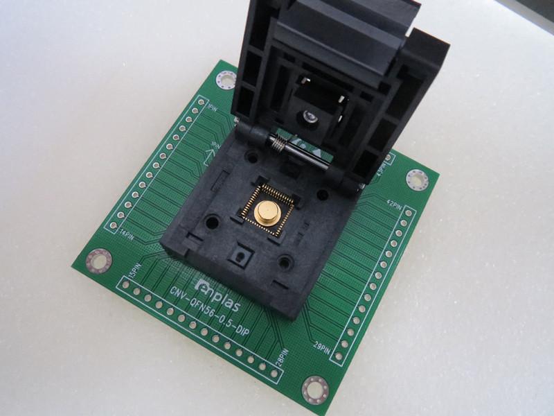 IC test socket QFN 56 / DIP QFN 56 MLF 56 Programming Block Test Socket Adapter 8X8X0.5MM -FREESHIPPING(China (Mainland))