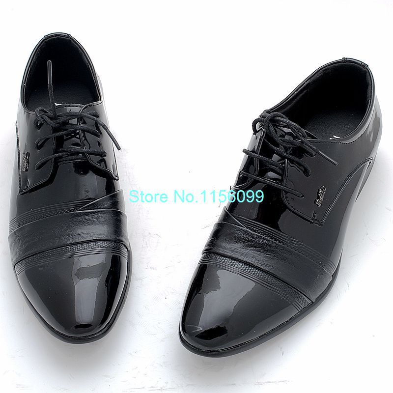 Fashion Mens PU Leather business Shoes casual Flats Party lace-up Men's Wedding shoes New Style - Fashion^store store