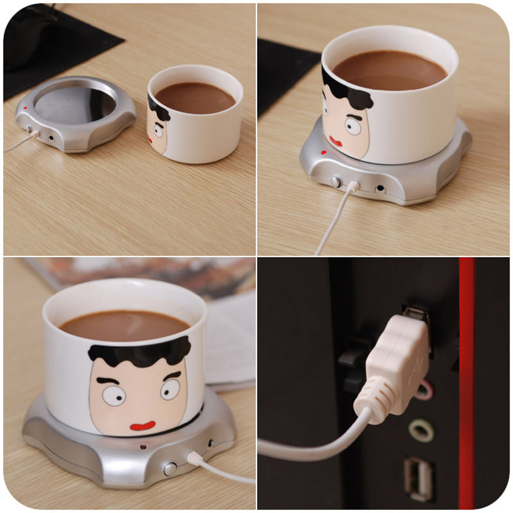 Hot sale 2016 new Wired Tea Coffee Milk Cup Mug Warmer Heater Pad Office House Use(China (Mainland))