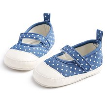 New Cute Kids Baby Boys Girls Shoes Polka Dot Casual Shoes Infant Soft Sole Prewalkers 0-18M Free Shipping
