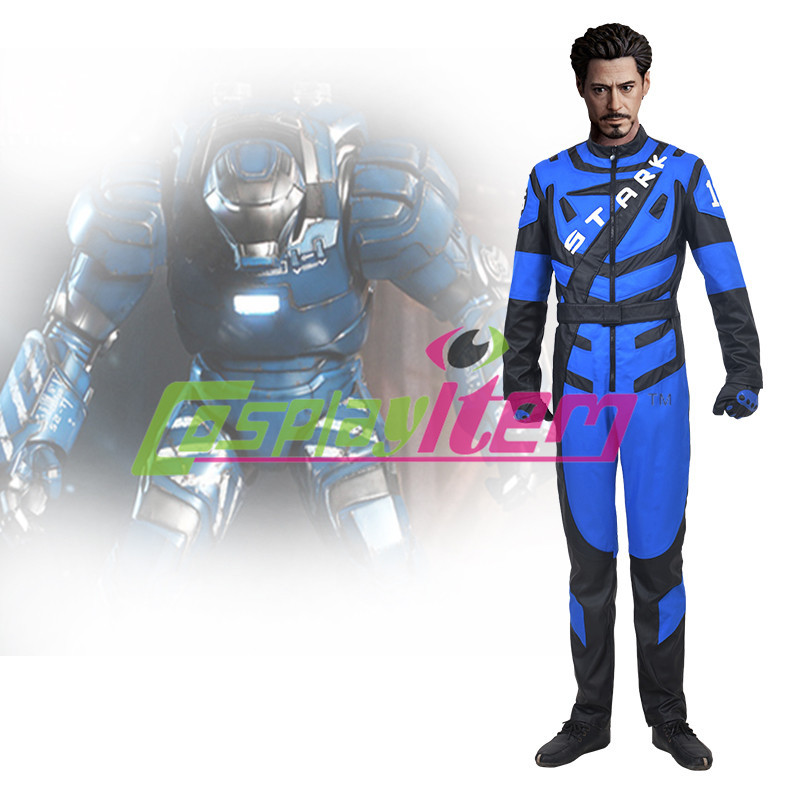 New Arrival movie Iron man Tony racing costume jumpsuit ourfit adut men's halloween cosplay costume(China (Mainland))