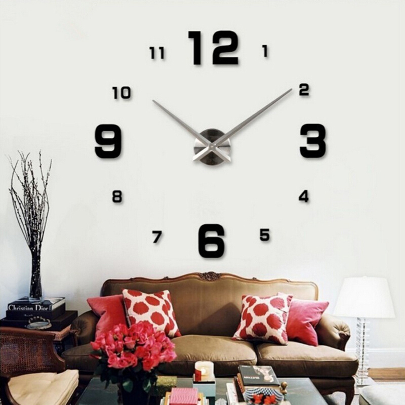 modern hot birds electronicwatc large 3d diy wall clock home decor digital unique gift living room clocks watches free shipping(China (Mainland))