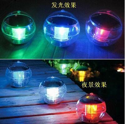 Free Shiping 6pcs/lot New Solar Garden Light Color Change Water Floating Waterproof LED Pool Light Garden Path Lamp luminaria(China (Mainland))
