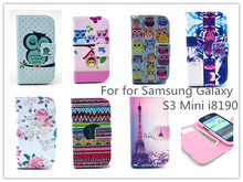 Sexy Girl cartoon Wallet Leather Case For Samsung Galaxy S3 mini i8190 Stand Credit Card Holder Slot Phone Bags Case for S3mini