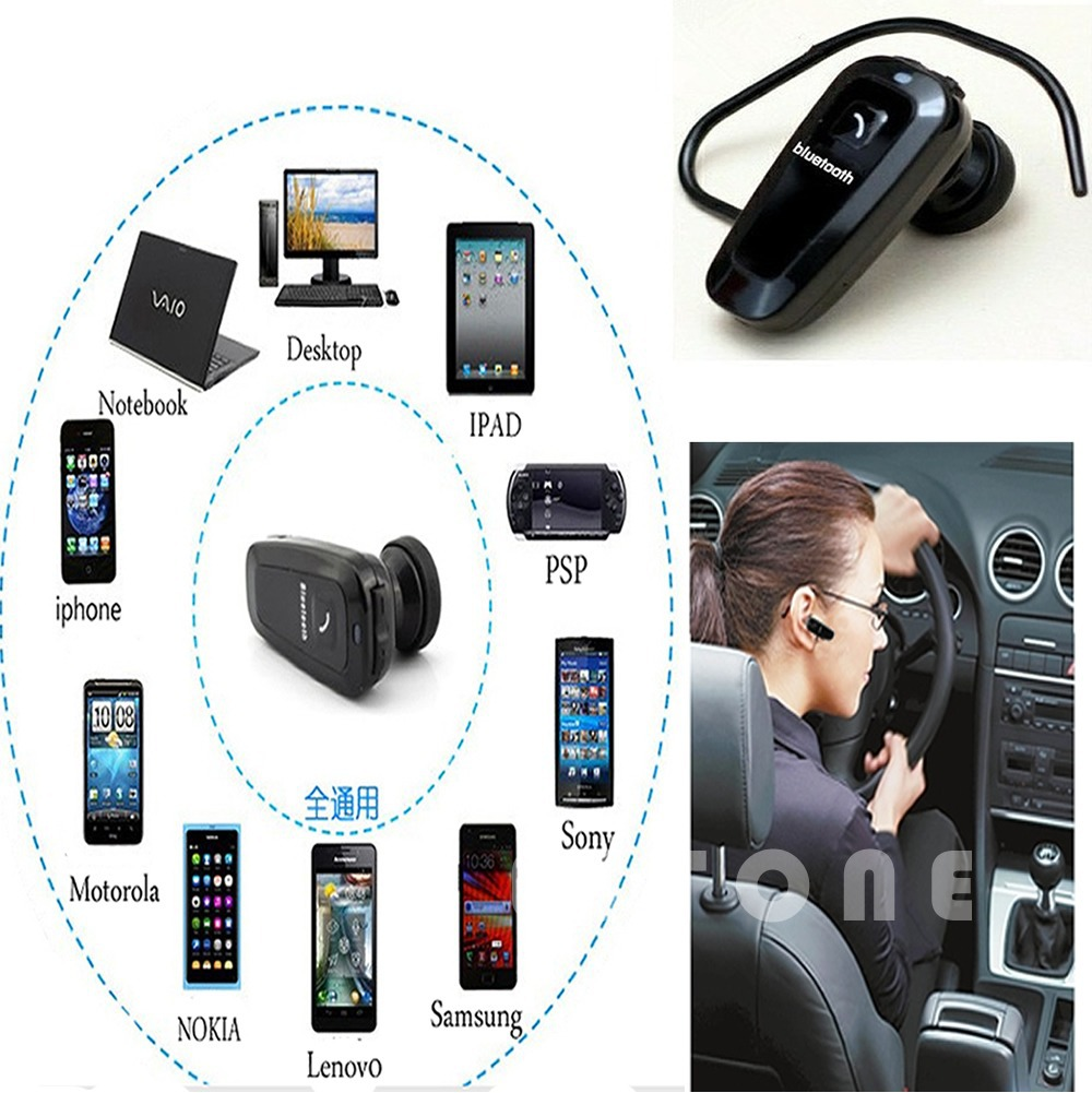Free Shipping Sport Bluetooth Wireless Headset Headphone Earphone Mic for iPhone Samsung HTC