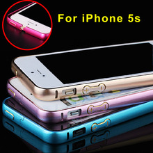 Protect Cases Ultra thin Metal Aluminum Frame Bumper Case For Apple iphone 5 5s Slim Shockproof Cell Phone Mobile