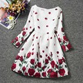 Girls Floral Print Dress for Party Beautiful Flower Girl Dresses Children Clothing Brands Kids Clothes Autumn