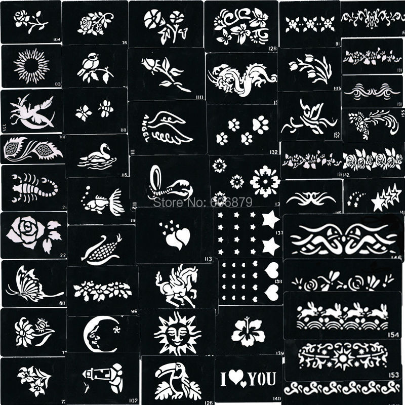 500pcs tattoo Stencils for Body art Painting mixed designs free shipping<br><br>Aliexpress