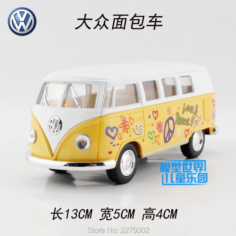 KINSMART Die Cast Metal Models/1:32 Scale/1962 Volkswagen Classical Bus with printing toys/for children's gifts for collections(China (Mainland))