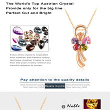 Necklace High Quality Cute Flower Crystal Pendant Necklaces Pendant Necklaces 18K Gold Plated Wedding Jewelry CNL0030