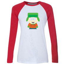 iDzn Women's T-shirt South Park Stan Marsh Kyle Broflovski Eric Theodore Cartman Kenny McCormick Long Sleeve Girl's T shirt Tops(China (Mainland))