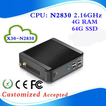 very small Intel Atom2500 X-24X  2g ram 64g SSD micro industrial pc htpc pc case small size cpu Weight 2.5kg