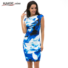 New Printed Bodycon Dress Women Summer Dresses Kaige.Nina Brand Plus Size Women Clothing Sexy Dresses 9021(China (Mainland))