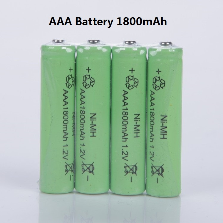 Free shipping 10pcs/lot AAA battery 1800mAh NiMH AAA rechargeable batteries, toys battery(China (Mainland))