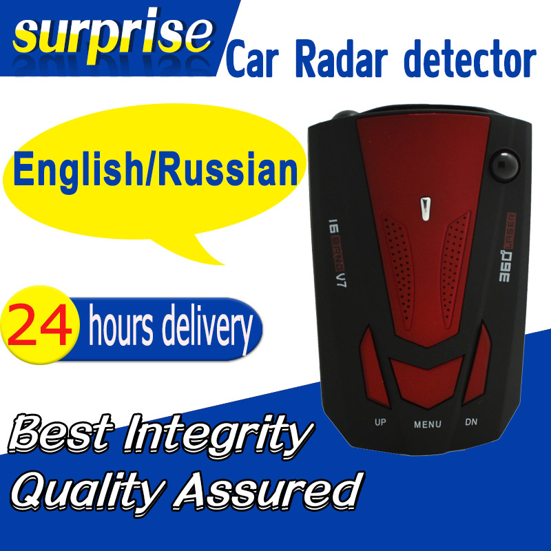 Гаджет  Car Detector Russia / English 16 Brand Laser Car Anti Radar Detector Speed Control with LED Display Free Shipping   None Автомобили и Мотоциклы