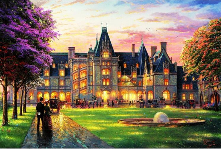 Castle Party The wooden puzzle 1000 pieces ersion paper jigsaw puzzle hot sale adult children's educational toys(China (Mainland))
