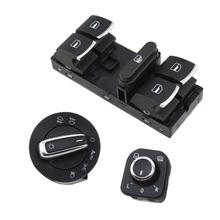 Buy 3 Pcs OEM Chrome Phare Electric Windows master switch + Fog lamp switch + mirror switch Pour VW Passat B6 Tiguan Golf Jetta MK5 for $38.50 in AliExpress store