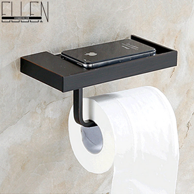 Economic black toilet paper holder oil rubbed bronze toilet roll holder square kitchen paper - Tissue holder bathroom ...