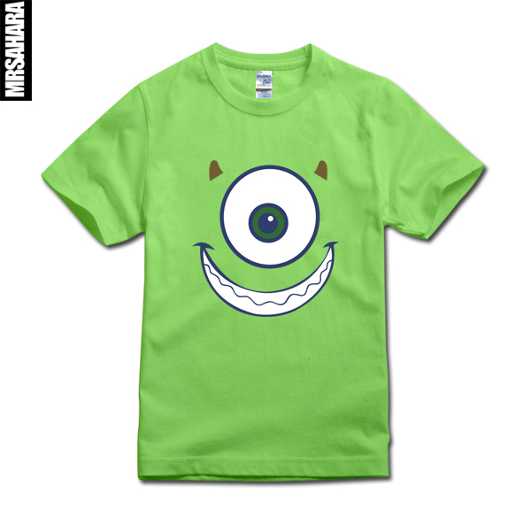 Fast shipping monster university sulley mike new short for Fast delivery custom t shirts