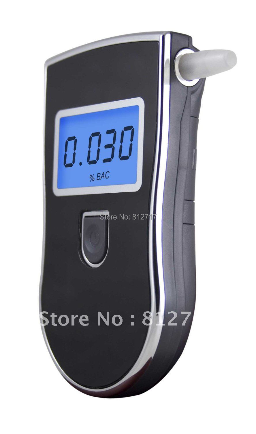 Free shipping! Patent Professional Digital Alcohol Analyser Breathalyzer High Quality With 5pcs Mouthpieces(China (Mainland))