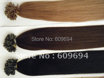 "18"" 20"" 22"" 24"" 100g Italian keratin Nail Tip U tip hair extensions 1g/s 100% Indian Human Remy Hair black brown blond in stock"
