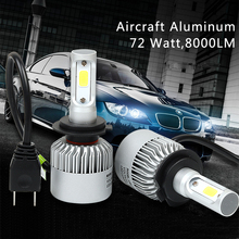 Buy H7 Auto Led Light 6000k Automobiles Bulbs 72w 8000lm Car Driving Fog Lights 36W 4000LM Headlight Lamp Replace Xenon Halogen for $21.99 in AliExpress store