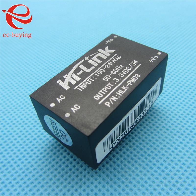 10pcs/lot HLK-PM03 AC-DC 220V to 3.3V Step Down Buck Power Supply Module Intelligent Household Switch Converter(China (Mainland))