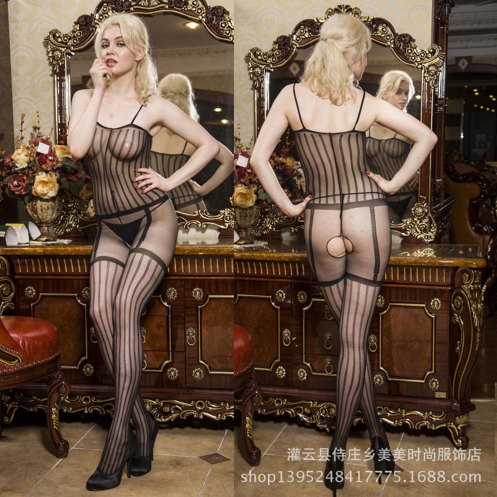 gjennomsiktig truse sexy stockings
