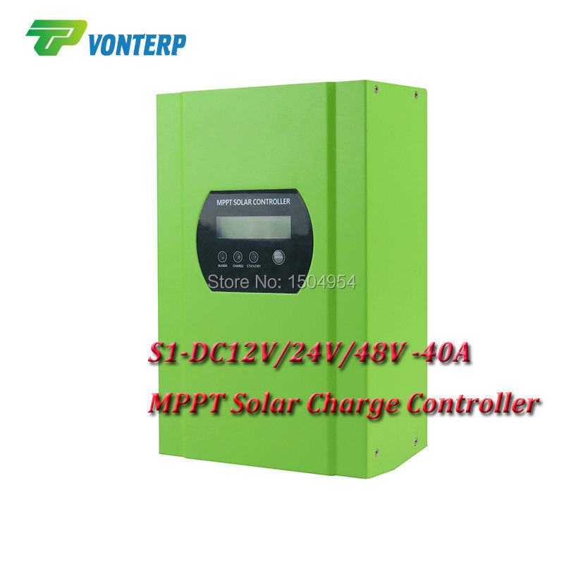 1 piece 40Amps 12V/24V/48V-40A MPPT solar charge controller 48V 40A PV regulator 40A battery charger controller<br><br>Aliexpress