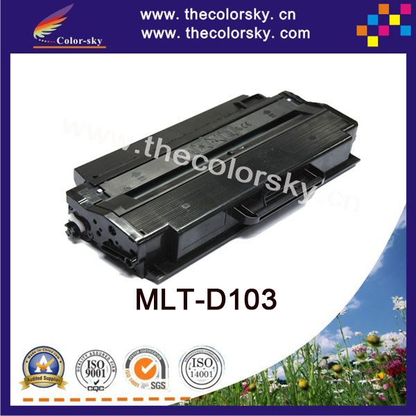 (CS-S103) BK laser toner cartridge ceramic toner for Samsung mlt d103s 103s 103l ml 2950 2951 2955 2956 (2500pages) Free FedEx