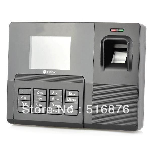 """Free Shipping Realand AC031 2.8"""" TFT Fingerprint Time attendance With TCP/IP Time Recorder(China (Mainland))"""