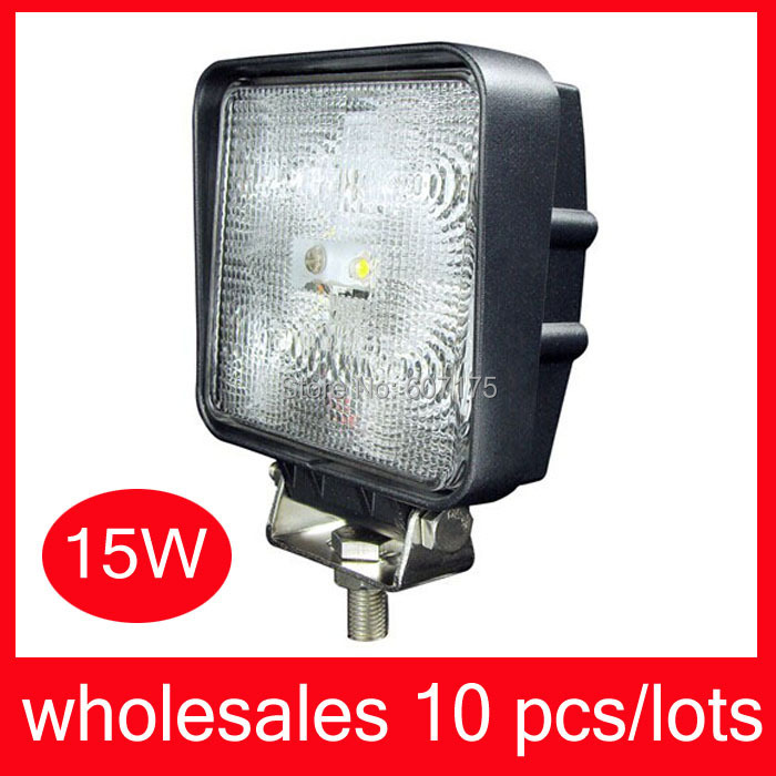 4 39 39 led work light 15w led work lamp square 1500 lumens led working light for tractor suv boat. Black Bedroom Furniture Sets. Home Design Ideas