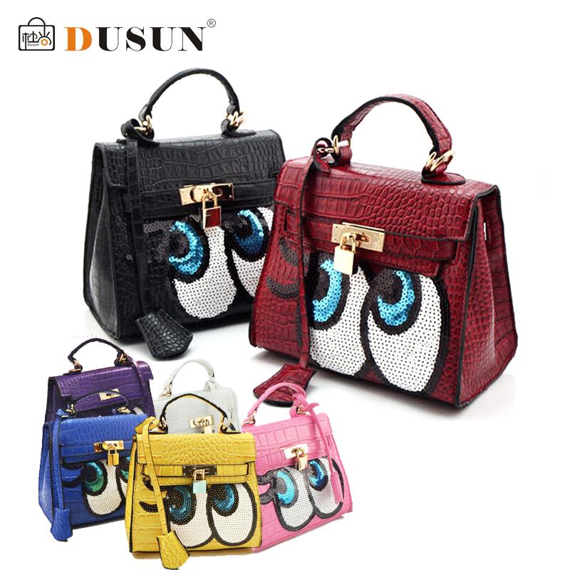 Crocodile women bag doctor small women leather handbags sweet women clutch lock women messenger bags sequins bolsa sac DUSUN(China (Mainland))