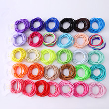 Buy Wholesale 50 Pcs Elastic Hair Band Candy Color Headband Solid Kids Hair Ropes Ponytail Holders Rubber Hair Accessories Girls for $2.64 in AliExpress store