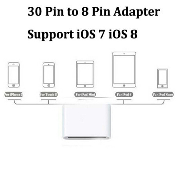 portable mobile phone adapter 30pin to 8pin converter