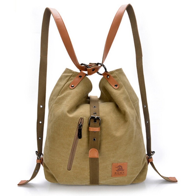 New 2015 Fashion single female canvas shoulder bag women backpack preppy style school bag travel backpack