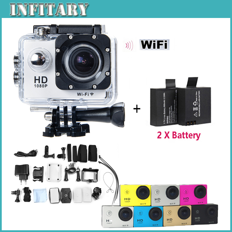 "2016 New 2xbattery Sport Style Action Camera Sj4000 WiFi 1080P Full HD 1.5"" LCD Display 12MP Diving 30M Waterproof Camera(China (Mainland))"